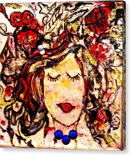 Canvas Print - Glamour Girl by Anne-elizabeth Whiteway