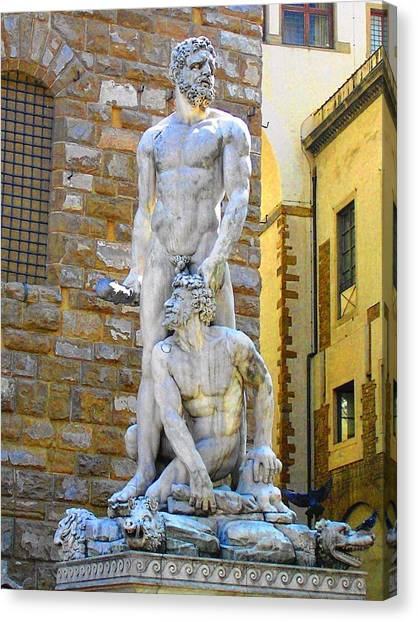 Glance At Hercules And Casus Canvas Print