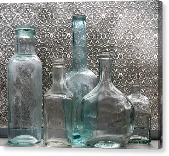 Glass Bottles 1 Canvas Print