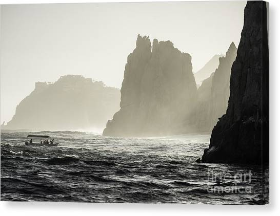 Glass Bottom Boat Canvas Print by Richard Mason