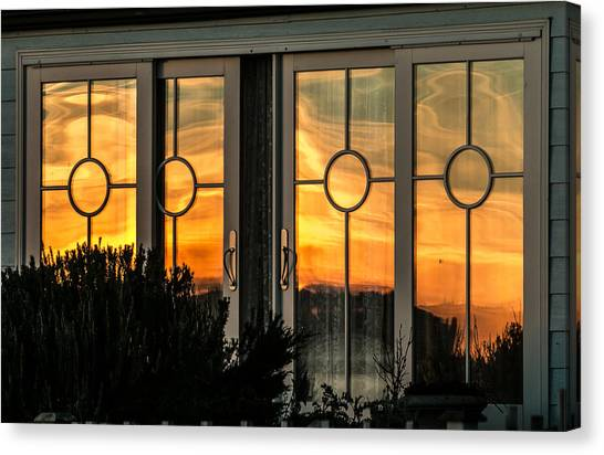 Glass Doors Aglow Canvas Print