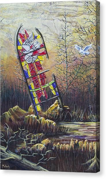 Glass Dove Canvas Print