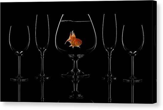 Aquariums Canvas Print - Glass Fish by Saleh Swid