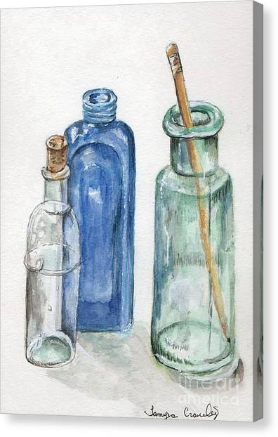 Glass Jars Canvas Print