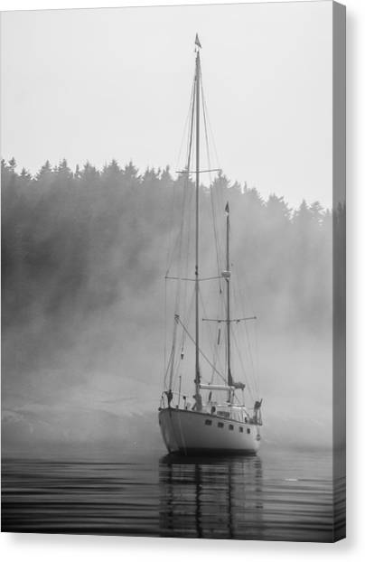 Glass Lady In The Fog Canvas Print