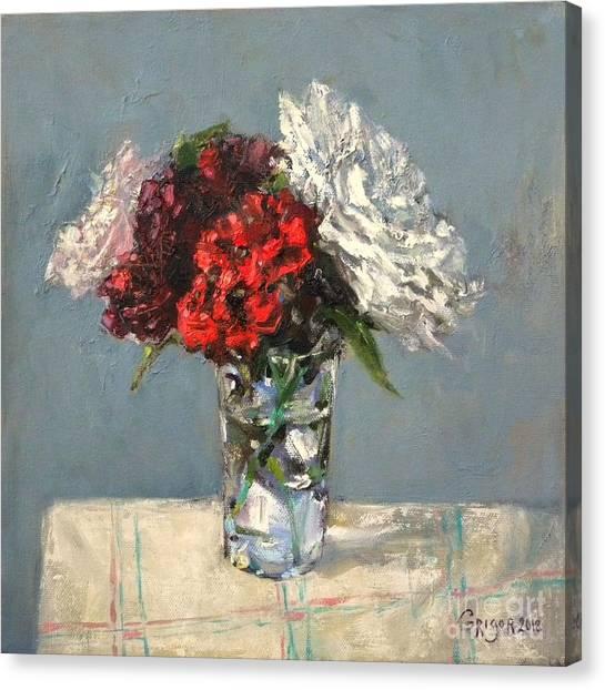 Canvas Print - Glass Of Flowers by Grigor Malinov