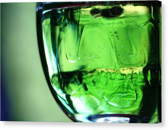 Glass Of Green Canvas Print