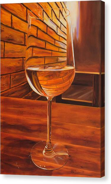 Glass Of Viognier Canvas Print