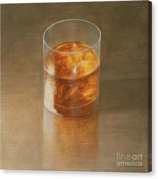Bar Canvas Print - Glass Of Whisky 2010 by Lincoln Seligman