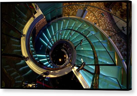 Glass Stairwell Canvas Print