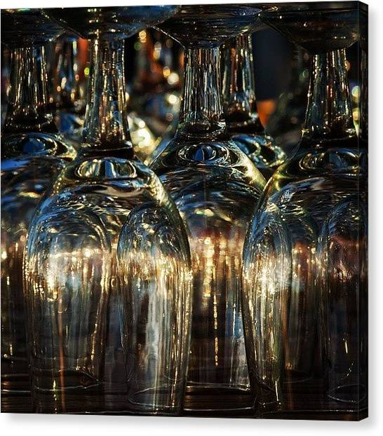 Bar Canvas Print - Glasses by Hitendra SINKAR