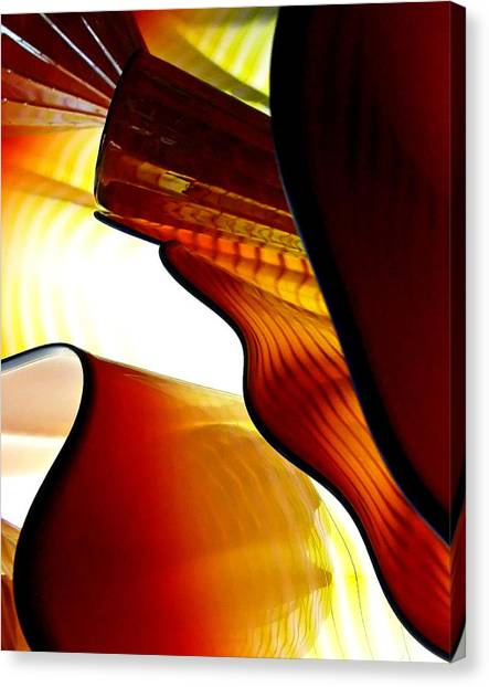 Glassware Abstract Canvas Print