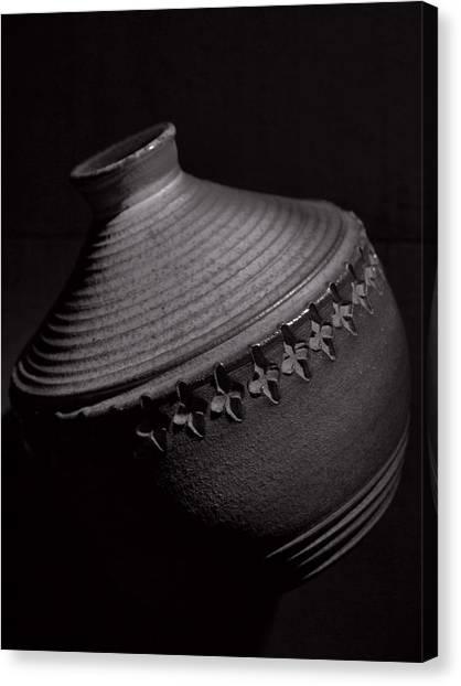 Glazed-black And White Canvas Print by Tom Druin