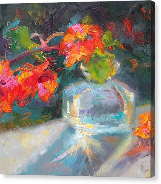 Gleaning Light Nasturtium Still Life Canvas Print