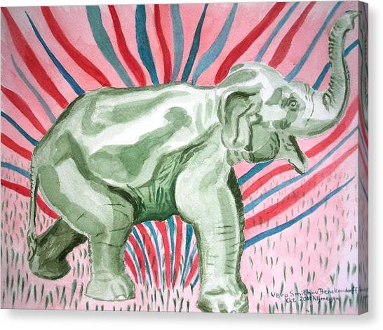 Gleeful Elephant Canvas Print