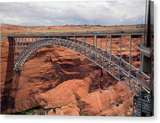 Glen Canyon Dam Bridge Canvas Print by Jim West