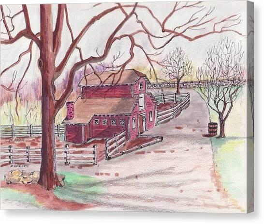 Glen Magna Animal Barn Canvas Print