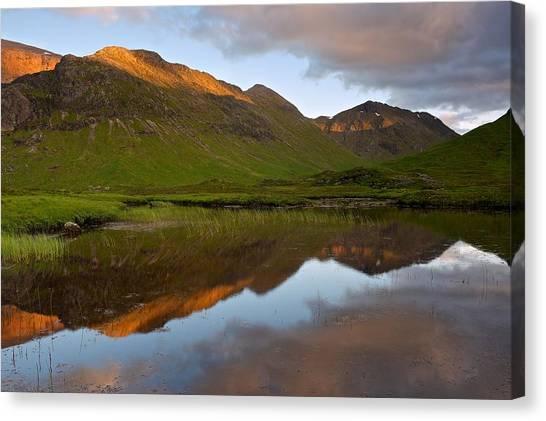 Glencoe Summer Reflections Canvas Print