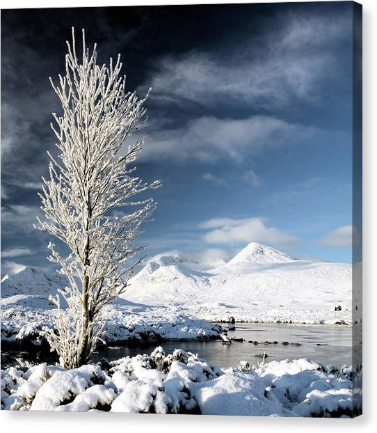 Glencoe Winter Landscape Canvas Print