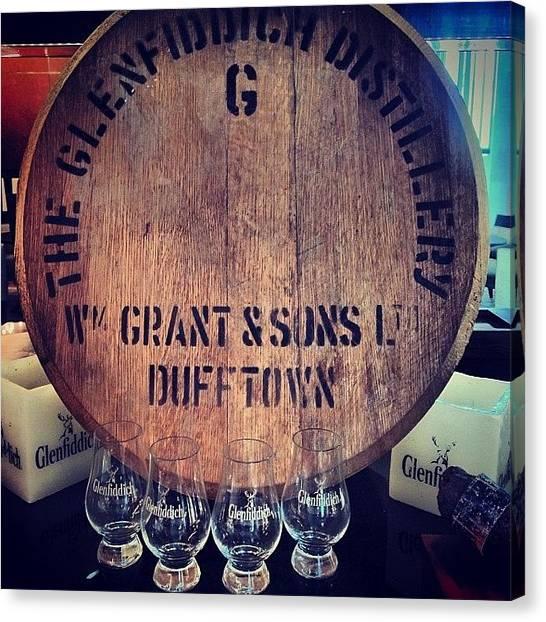 Whiskey Canvas Print - #glenfiddich #bar #trident #hotels by Vikram Singh