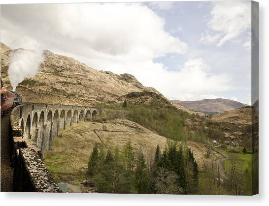 Glenfinnan Train Viaduct Scotland Canvas Print