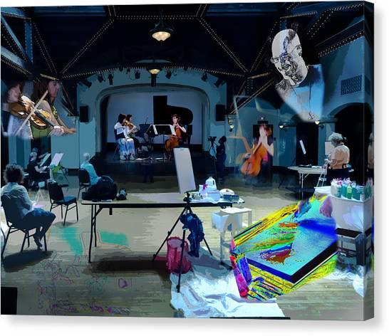 Canvas Print featuring the photograph Glisten Rehearsal by David Coblitz