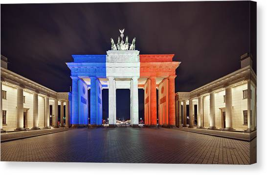 Global Reaction To Paris Terror Attacks Canvas Print by Ricowde