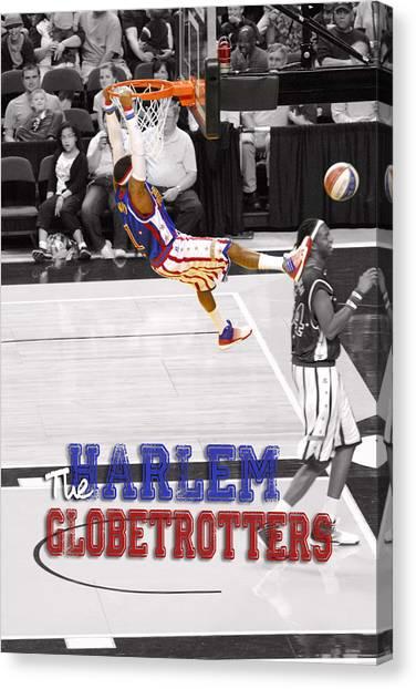 Harlem Canvas Print - Globetrotters Super Slam by Robert Saunders Jr