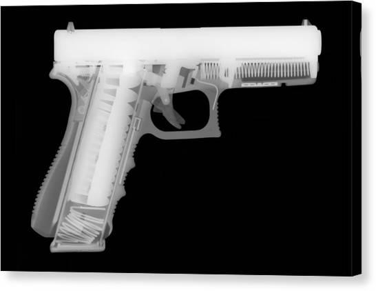 Shotguns Canvas Print - Glock G17 Reverse by Ray Gunz