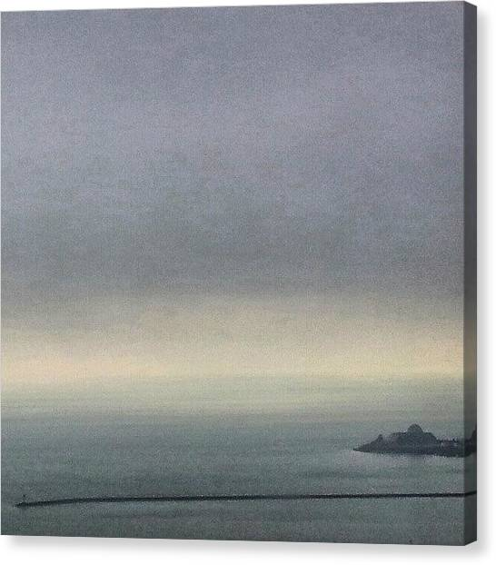 Lake Michigan Canvas Print - Gloomy Day On The Lake by Jill Tuinier