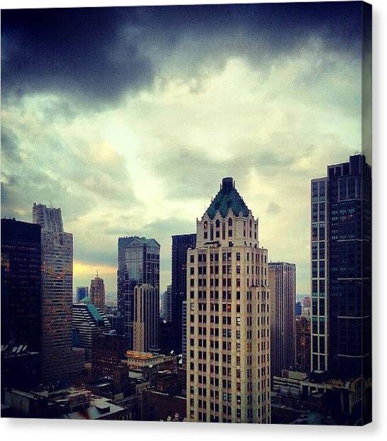 Weather Canvas Print - Gloomy Day Out There by Jill Tuinier