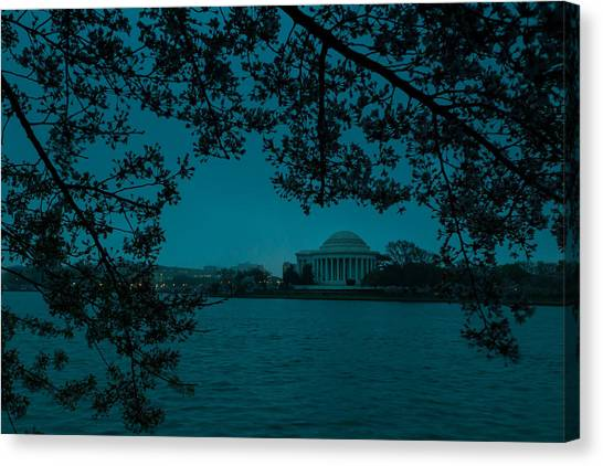 Patriot League Canvas Print - Gloomy Morning In Dc by David Hahn