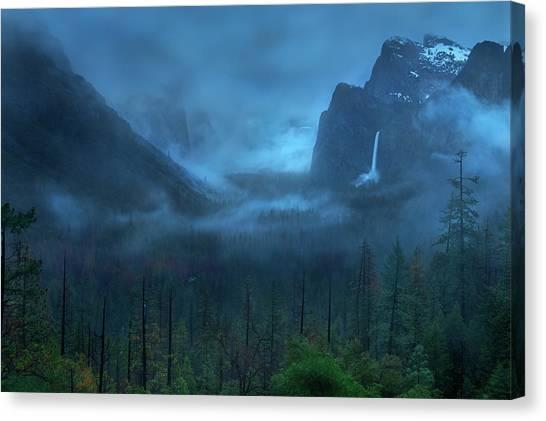 Yosemite National Park Canvas Print - Gloomy Mountain by Yan Zhang