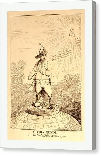 Gloria Canvas Print - Gloria Mundi, Or The Devil Addressing The Sun  Pare by English School