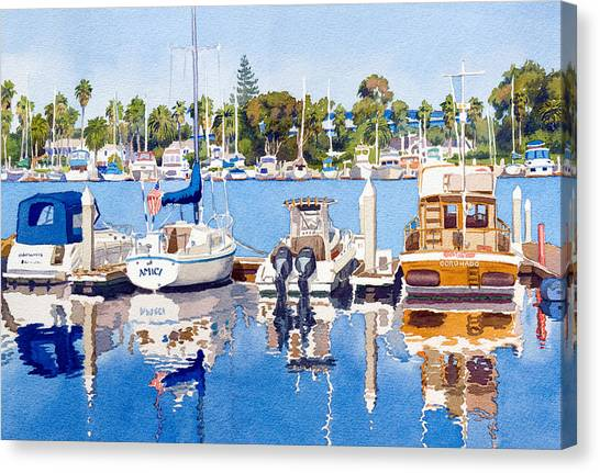 Marinas Canvas Print - Glorietta Bay Marina by Mary Helmreich