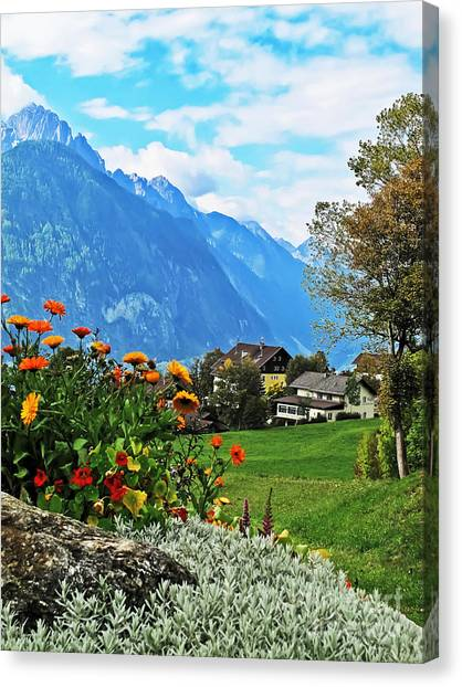 Glorious Alpine Meadow Canvas Print