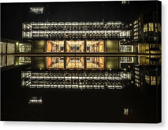 Glorious Modern Architecture At Night Canvas Print