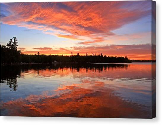 Glorious Sunrise At The Lake Canvas Print