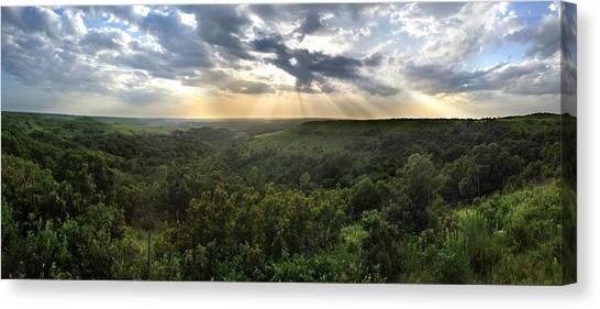 Glory Lights Over The Konza Prairie Canvas Print