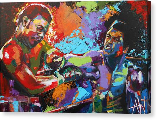 Joe Frazier Canvas Print - Glory Night by Angie Wright
