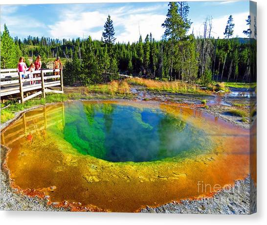 Glory Pool Yellowstone National Park Canvas Print