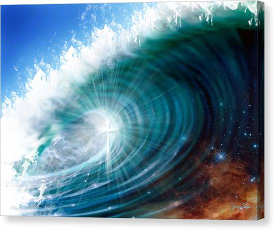 Glory Waves Canvas Print