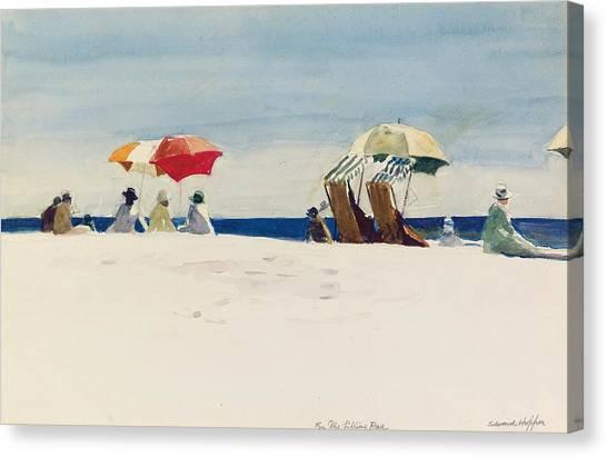 Beach Resort Vacation Canvas Print - Gloucester Beach by Edward Hopper