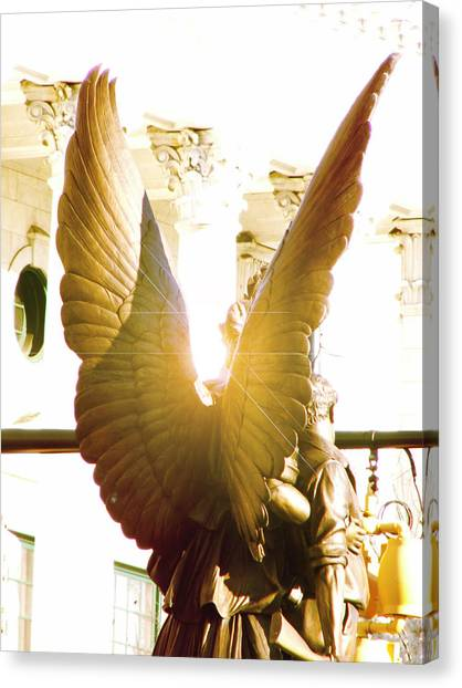 Glowing Angel Canvas Print by Misty Stach