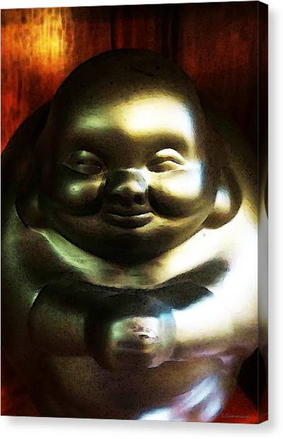 Karate Canvas Print - Glowing Buddha - Zen Art By Sharon Cummings by Sharon Cummings