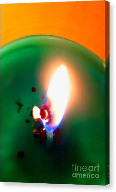 Glowing Candle Wick Canvas Print