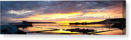 Glowing Freighters Canvas Print