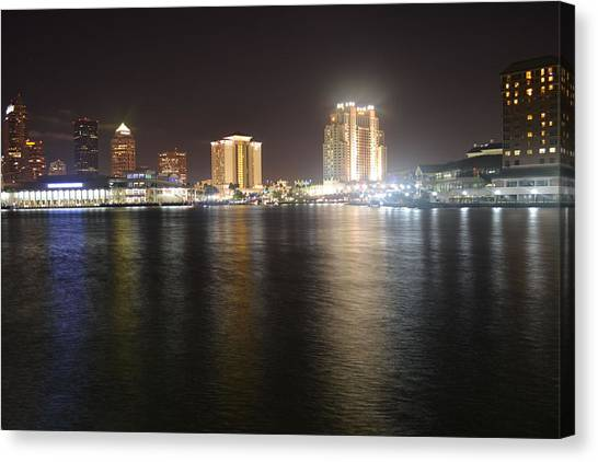 Glowing Hotel Canvas Print by Victoria Clark