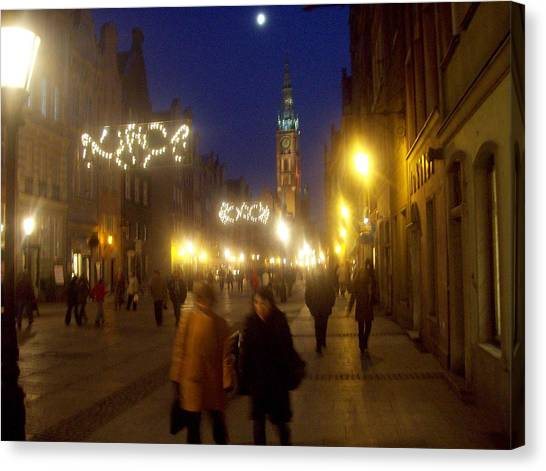 Glowing Old Gdansk Canvas Print