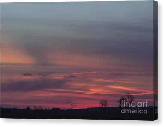 Glowing Plains Canvas Print